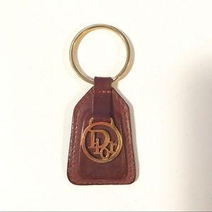 Dior Accessories - Dior Vintage Keychain in Leather, Dark Brown